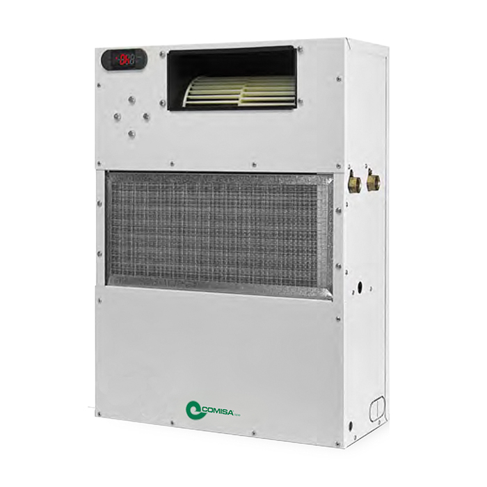 Vertical isothermal dehumidifiers