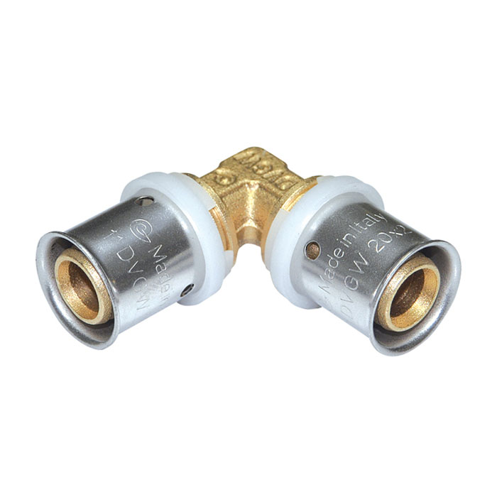 Press fittings for multilayer pipe