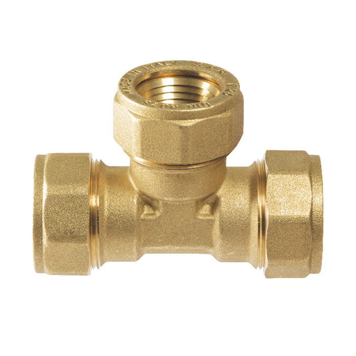 Compression fittings for polyethylene and iron pipe