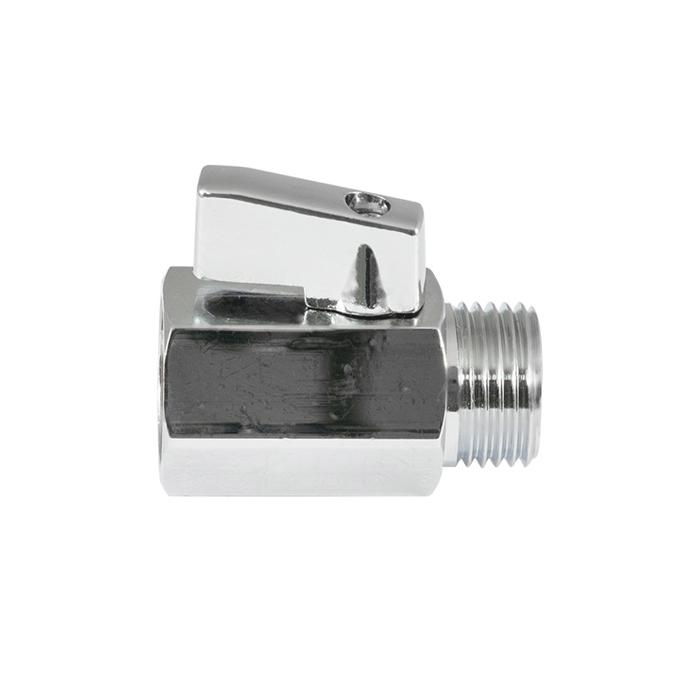 Mini ball valves dzr chrome-plated